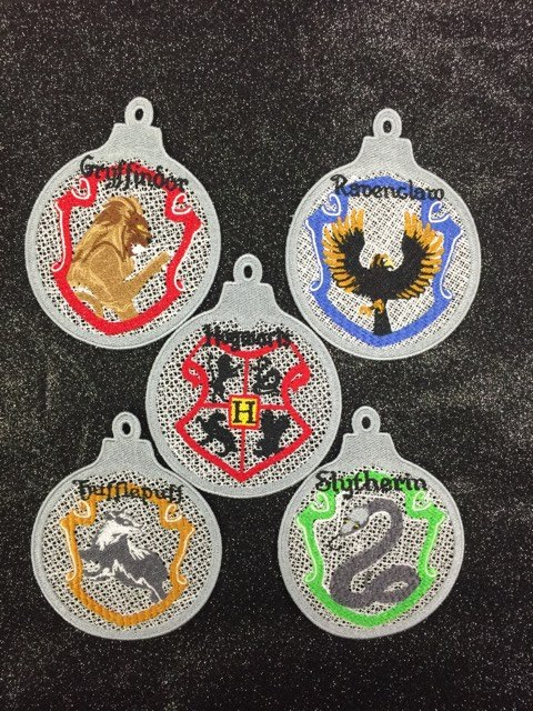 Harry Potter Hogwarts Houses Ornaments